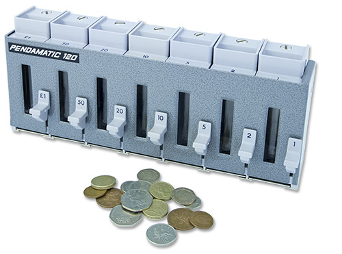 Pendamatic coin dispenser.