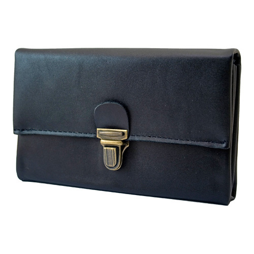 Cambist drivers purse. Genuine leather with solid brass details.