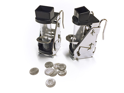 Cambist coin dispensers with one single coin unit for USD 0.10.