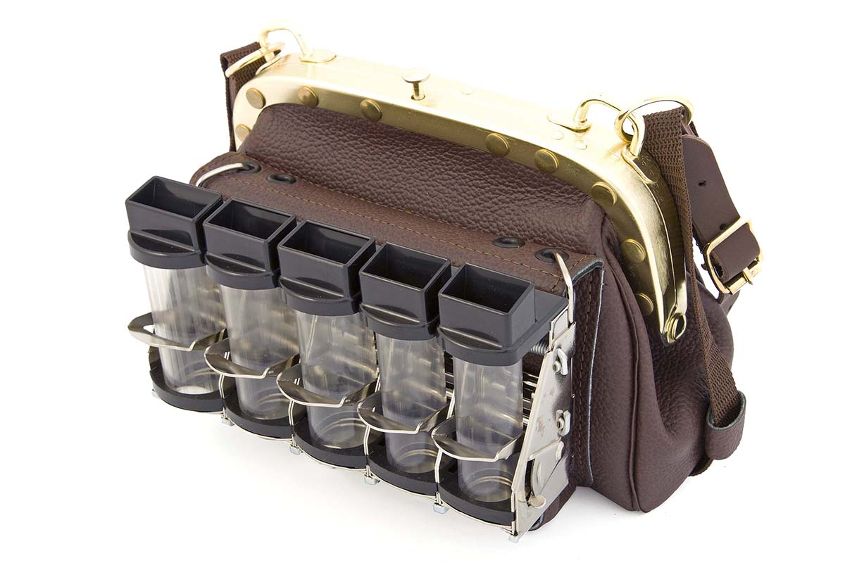 Cambist drivers bag no.312 front with 5 tube coin dispenser